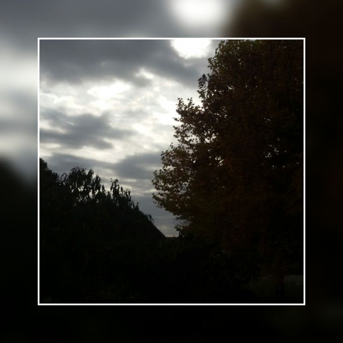 clouds sky grey trees