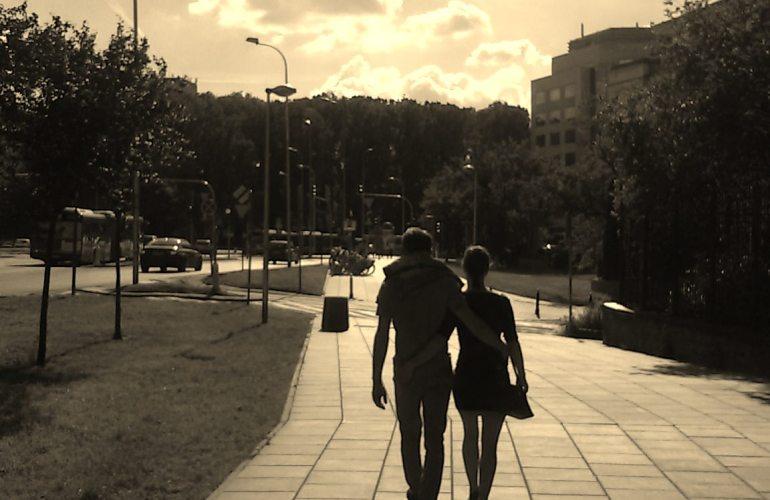 photo couple walking street Warsaw Poland photography my work photographer