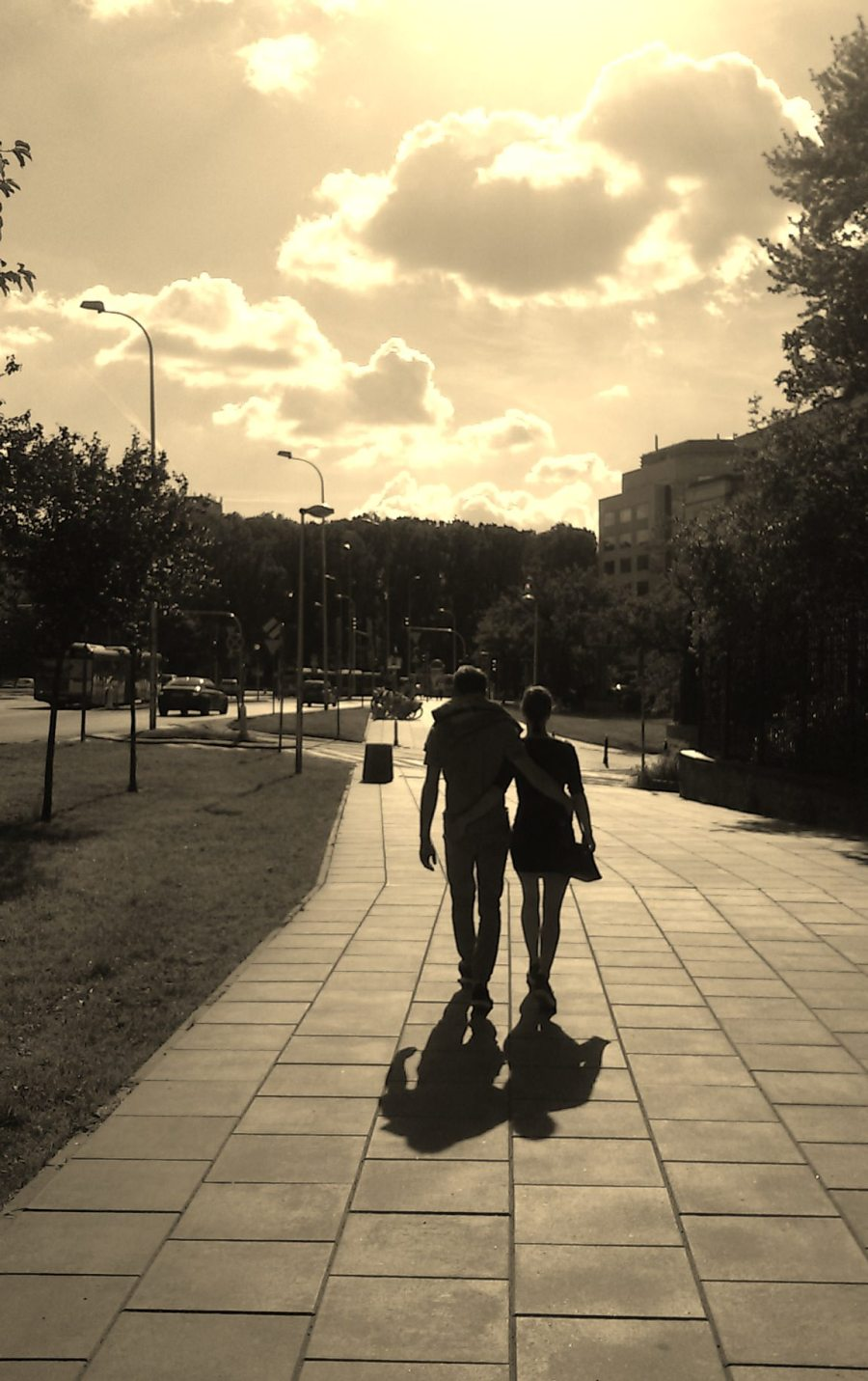 photo couple walking street Warsaw Poland photography my work photographer