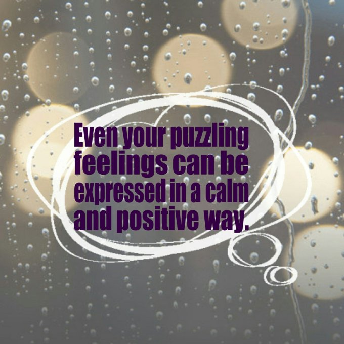 happy positive puzzling feelings express yourself