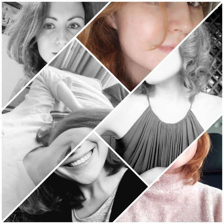 Social media collage selfie interesting different photography style