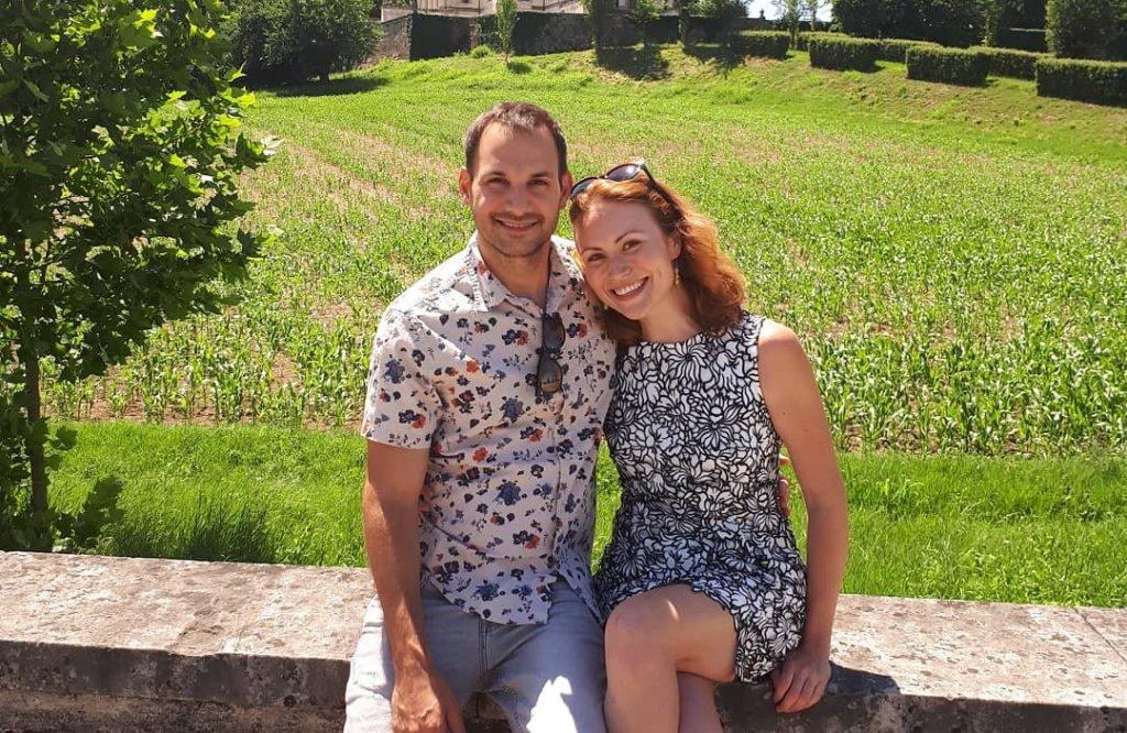 Travel couple Vicenza Italy