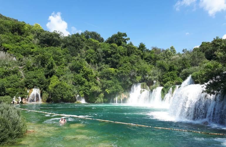 travel photography Croatia Krka Slapovi Krke Skradin Skradinski buk swimming