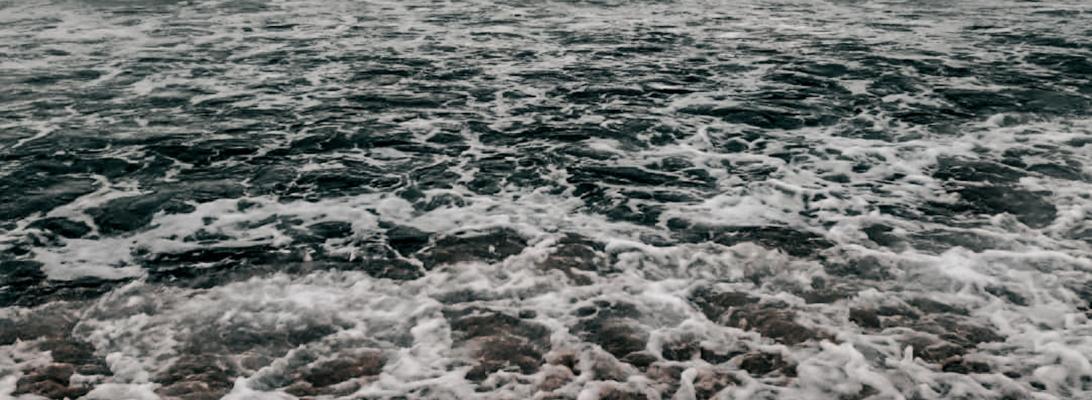 Beach waves Rhode Island gloomy travel
